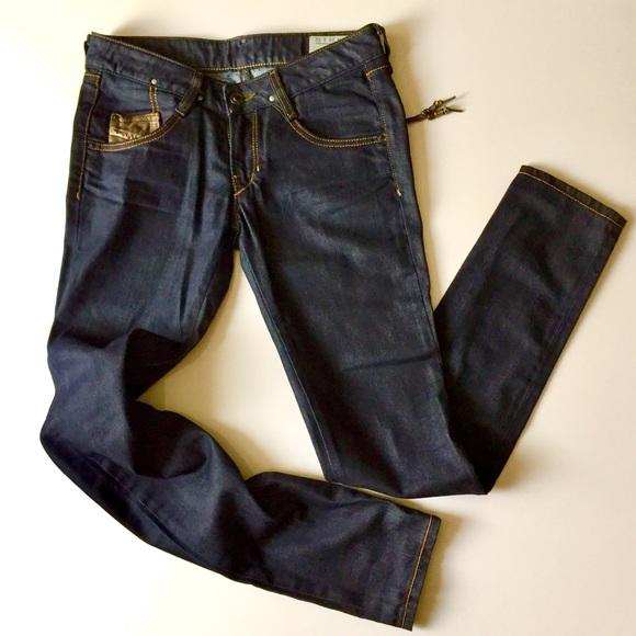 d74db444 Diesel Denim - Diesel Clush Dark Wash Zip Pockets Stretch Jeans